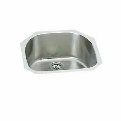 Elkay Kitchen Undermount Sink 24 in. Rounded Single Bowl Stainless Steel  for sale online | eBay