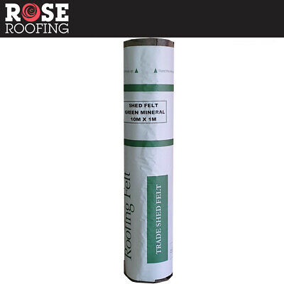 Rose Roofing Shed Roofing Felt + Adhesive | Green Red ...