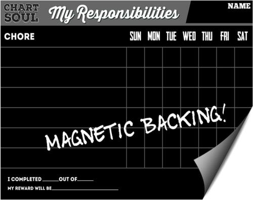 "Magnetic Refrigerator Chalkboard Chore Chart Activity Calendar  12/"" x 16/"""
