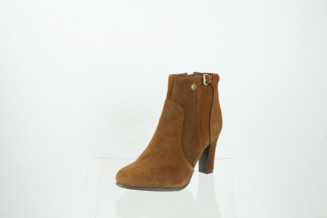 1dc6662dcd148 TORY BURCH Booties Suede Ankle Boots Leather Taupe Grey Brown Size 6 ...