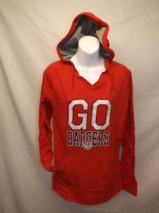 Nuevo-Wisconsin-Badgers-034-Ir-Tejones-034-Mujer-Talla-M-Medio-Rojo-con-Capucha-Camisa