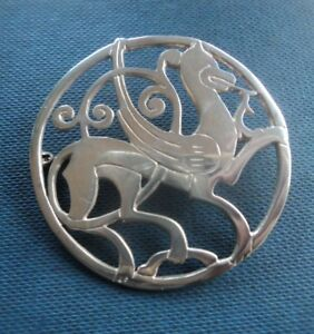 Fine Pins & Brooches Official Website Large Scottish Shetland Silver Quendale Horse Brooch H/m 1974 & 1975 Edinburgh Clear-Cut Texture