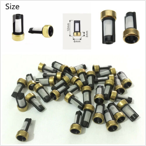 100 piezas Inyector de combustible de alta calidad autos Micro Filtros de cesta 6*3*12mm Universal