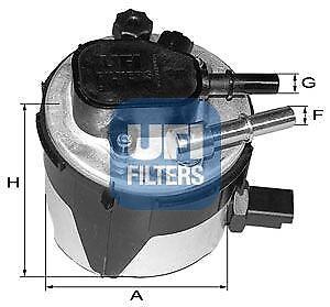 Filtro Carburante Si Adatta Mazda Bongo SR1 2.0 88 a 89 ADL RF0323570 S21323570 Qualità