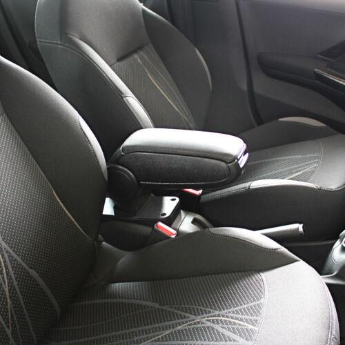 Centro consola apoyabrazos Peugeot 208 Negro De Cuero Ecológico Nuevo