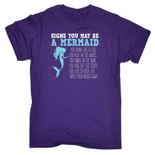 123t Men/'s Signs You May Be A Mermaid Funny Joke Comedy Humour T-SHIRT Birthday