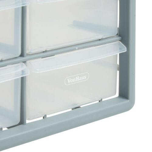 VonHaus 12 Multi Drawer Organiser Arts Crafts Sewing DIY Storage Cabinet Unit