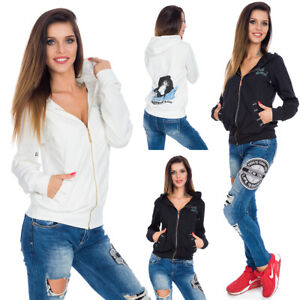 Womens-Hoodie-with-Zippers-amp-Pockets-Zircons-Pattern-Graphics-Activewear-WP11042
