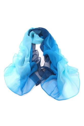 Gradient Farbe Umhang Damen Schal Seide Chiffon Schal Schals U1K3 E7C0