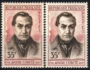"FRANCE STAMP TIMBRE 1121 "" AUGUSTE COMTE 35F VARIETE COULEUR "" NEUF xx SUP M357"