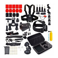58 in 1 Accessories Set Kit for GoPro Hero 2 3 3+ 4 SJCAM Head Chest Strap U2F3