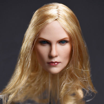 """1//6 Female Head Sculpt Charlize Theron Model Blonde Hair For 12/"""" Action Figure"""