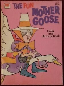 Details about Vintage WHITMAN Coloring Book ~ THE FUN MOTHER GOOSE Color &  Activity Book