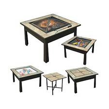 """leisurelife™ 30"""" 5 in 1 Square Coffee Table, Side Table, Fire Pit, Grill..."""