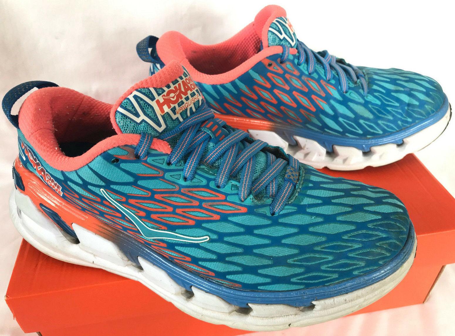 HOKA One One W Vanquish 2 bluee 1011361 Cushion Marathon Running shoes Women's 8