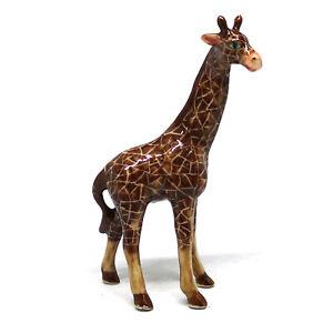 Ceramic-Craft-Miniature-Collectible-Porcelain-Giraffe-Figurine-Safari-Standing