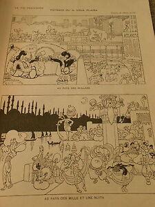 Voyage-ou-il-vous-plaira-Au-pays-des-Dollars-Mille-et-Une-Nuit-Humour-Print-1910