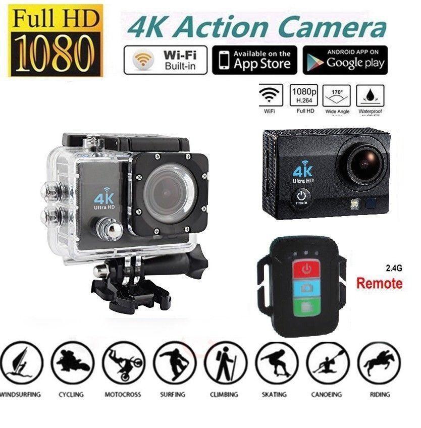 Original HDKing Ultra HD 4K WIFI Sports Action Camera Waterproof DV 14MP NEW 14mp action camera hdking new original sports ultra waterproof wifi