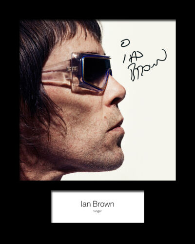 FREE DEL IAN BROWN 10x8 SIGNED Mounted Photo Print