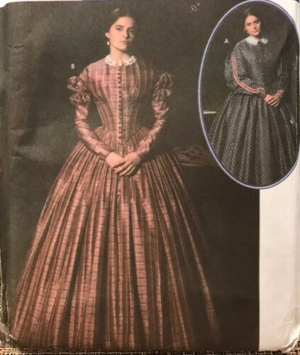 SEWING PATTERN Simplicity 4400 CIVIL WAR DRESS Adult Sz 1624 Martha McCain