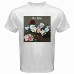 d5fdd65df New ORDER Power Corruption And Lies Rock Band Men's White T-Shirt ...