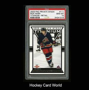 HCW-2002-03-Titanium-111-RICK-NASH-Rookie-665-1475-PSA-10-Gem-Mint-RC