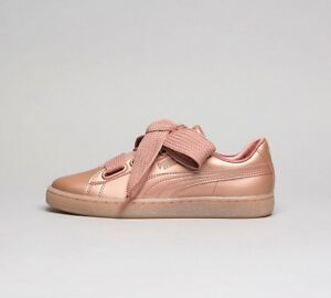 womens puma basket heart metallic copper trainers rrp ebay. Black Bedroom Furniture Sets. Home Design Ideas