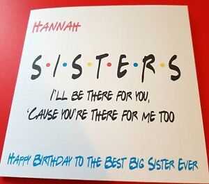 Outstanding Friends Themed Birthday Card Personalised Sister Niece Brother Funny Birthday Cards Online Fluifree Goldxyz