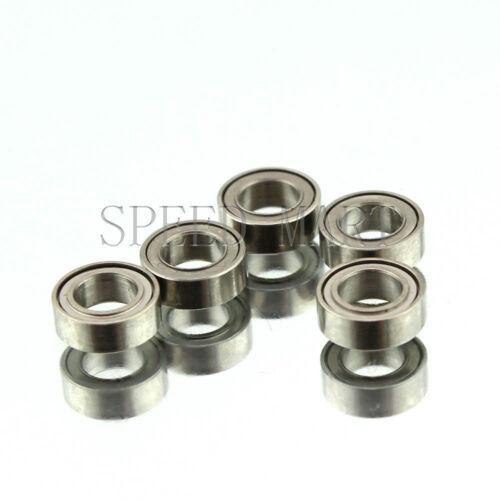 5 PCS MR74zz Mini Metal Double Shielded  Ball Bearings 4mm*7mm*2.5mm