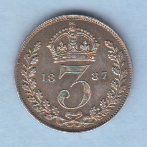 Great Britain. 1887 Jubilee Head Threepence.. aUNCUNC