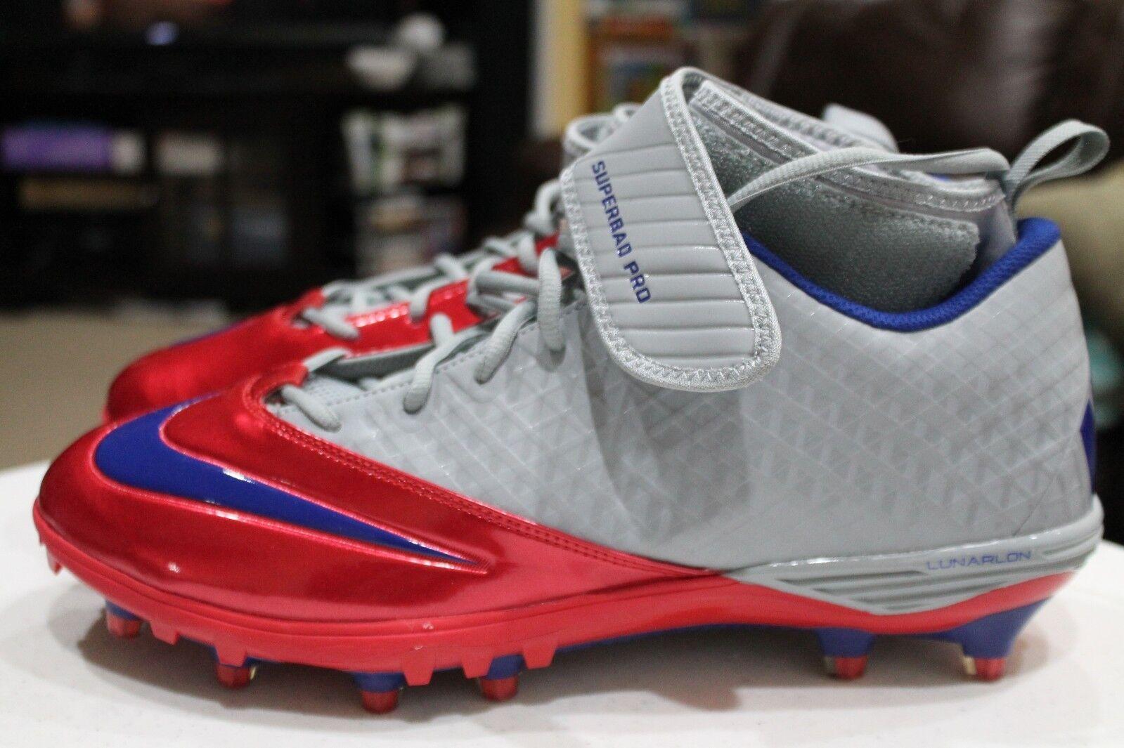 NEW Nike Superbad Pro Lunarlon--size 14, gray, red, blue--534994-046