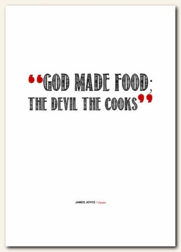 JAMES JOYCE Ulysses ❤ cooks chefs book quote poster art print inspirational #146