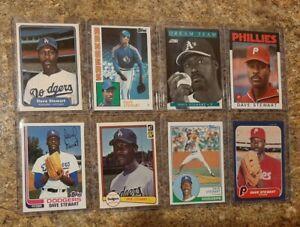 (8) Dave Stewart 1982 Topps Fleer Donruss Rookie 1983 84 Card Lot A's Dodgers RC