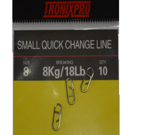 Tronixpro Changement Rapide Lien Sea Fishing Terminal Tackle Rig Clips Taille 8