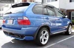 BMW E53 X5 4.8IS BodyKit Front Addon Spoiler Lip And Rear Addon Spoiler Lip