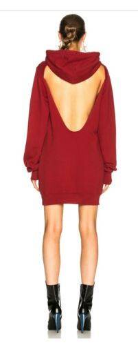 Open With Citizen Donna Red Cotton Dress Taglia Back Hood Piccola By HUqwHPr