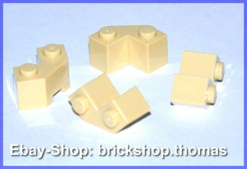 NEW Facet Tan Lego 4 x Stein abgerundet Ecke Winkel  beige 2x2-87620 NEU