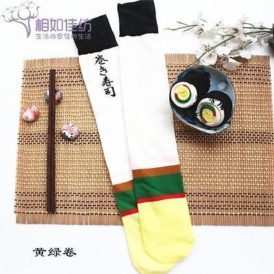 Sushi Chausettes Mode Mignon Femmes Hommes Long Chaussettes en Coton Longueur