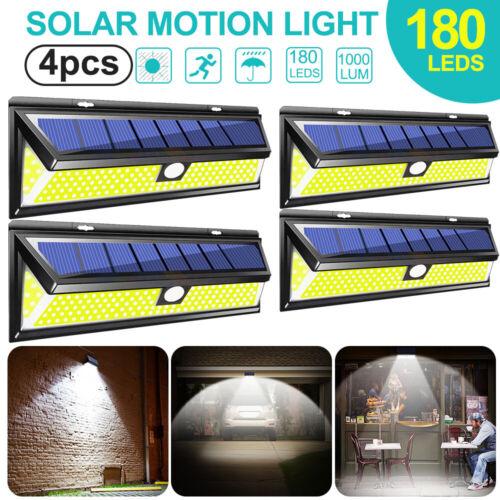 1pc 180LED COB Solarleuchte Wandleuchte Bewegungsmelder Gartenlicht Außenleuchte