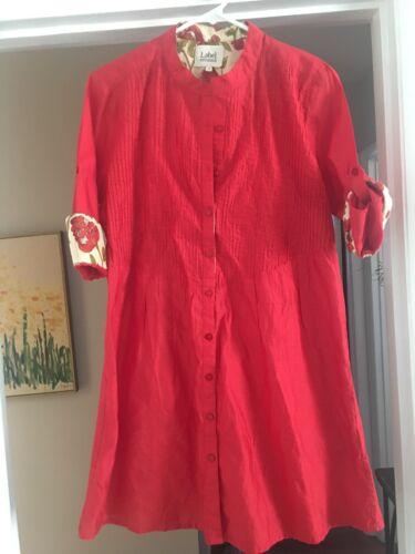 Label Ritu Kumar Women's Dress Size 3 Button Up Fl