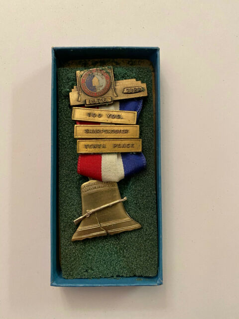 1976 North South Civil War Reenactment Sharpshooter 10th Medal Confederate Union