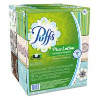Puffs Plus Lotion Facial Tissue White 2-ply 8 1/5x8 2/5 124/box 6bx/pk 4pk/ctn on sale