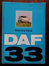 DAF 33 Delivery Vans orig 1972 UK Market sales brochure
