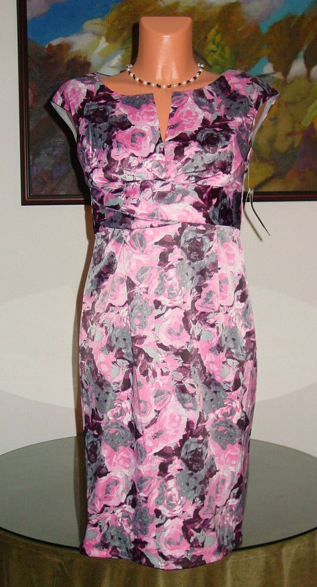 NWT women Ricco New York Floral Dress, sz 4 8 10 12