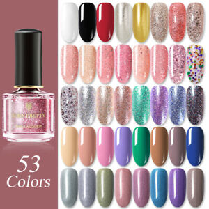 BORN-PRETTY-6ml-Rose-Gold-Nail-Polish-Glitter-Sequins-Black-White-Red-Varnish