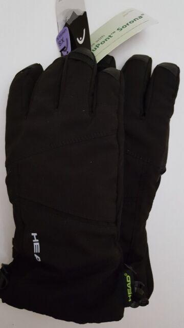 Head Men/'s DuPont Sorona Insulated Ski Glove With Pocket Black//Lime,XS
