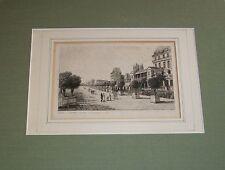 1812 GARDEN TUILERIES OLD PARIS FRANCE ART ENGRAVING CARL B SCHWARZ A.P. MARTIAL