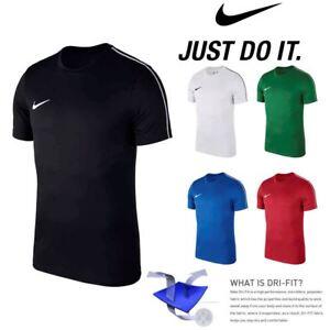 269b76381b Nike JUNIOR BOYS T Shirt Football Sports Training Top Jersey Gym Tee ...