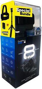GoPro-Hero-8-Black-Black-Holiday-Bundle-Action-Cam-wasserdicht-Sprachsteuerung