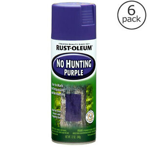 Image Is Loading 6 Pack Rust Oleum 12 Oz Purple Outdoor